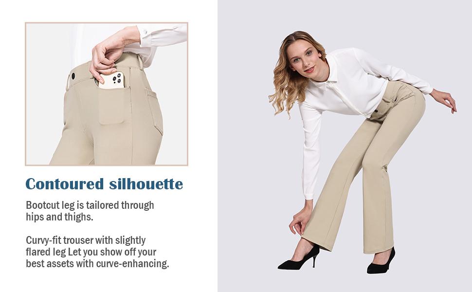 Baleaf Women's Yoga Dress Pants Bootcut Pants