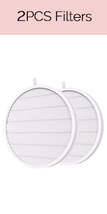 2pcs Nail Dust Collector Replacement Filters