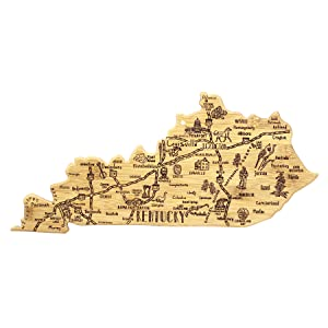 Kentucky State Shaped Serving and Cutting Board
