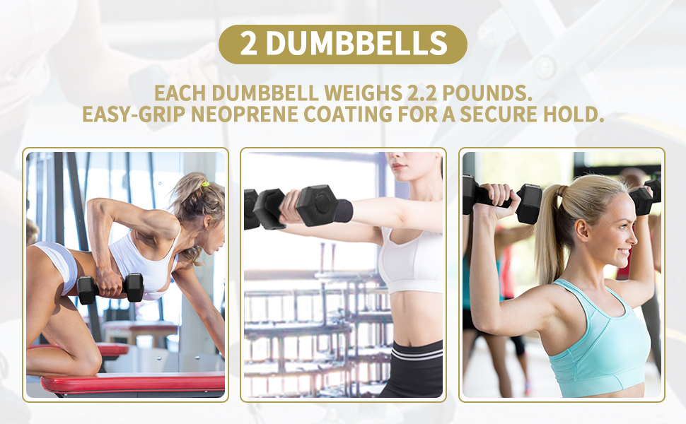 Comes with 2 Dumbbells and 2 Pull Ropes
