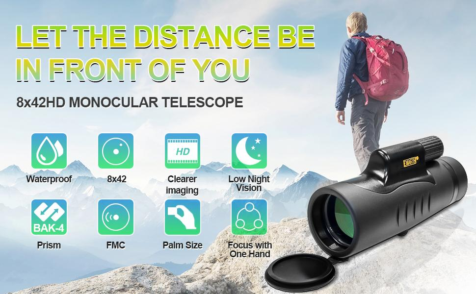 8x42 monocular telescope let the distance be in front of you