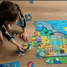 piece puzzles for kids pc jigsaw pieces ages  ravensburger puzzle mudpuppy US MAP BRAND IMAGE