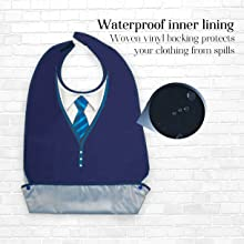 Classy Pal Tie Design waterproof inner lining