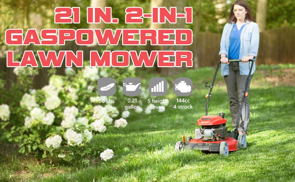 Gas Lawn Mower 2 in 1