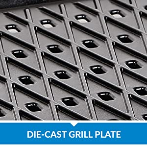 die-cast grill plate