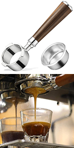 Bottomless Naked Portafilter Compatible with Breville Espresso Machines
