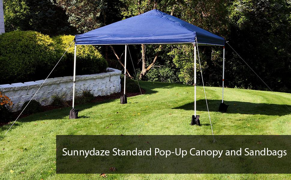 Sunnydaze Standard Pop-Up Canopy and Sandbags