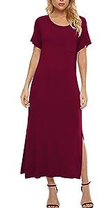 Casual Plain Long Dresses