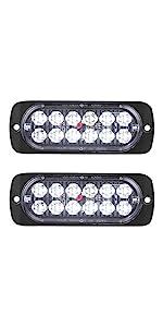 DOT compliant 12-volt aluminum alloy white LED reverse and running lights