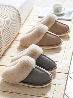 Unisex Memory Foam Warm Cozy Non-Slip Faux Fur Bedroom Home Shoes Indoor/Outdoor