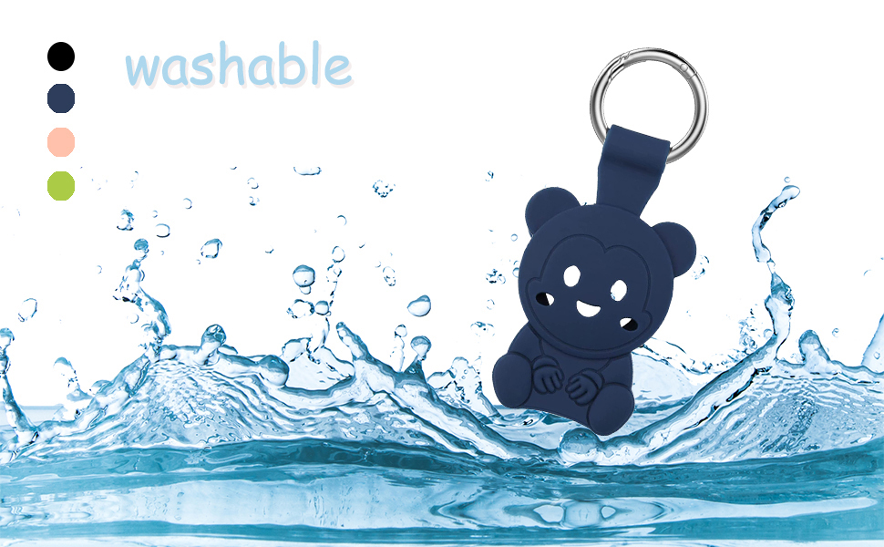 Washable Case for AirTag Keychain