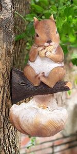 Squirrel bird feeder