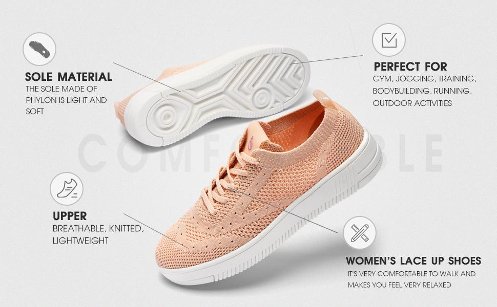 women canvas knitted sneakers
