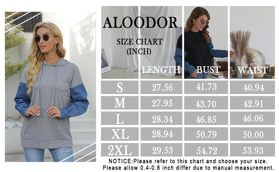 Aloodor Womens Hoodies