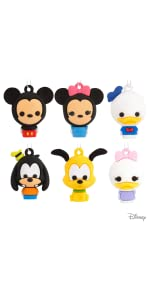 Disney Mickey Mouse and Friends Miniature Ornaments Set of 6