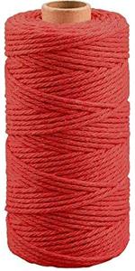 Rood Macrame katoenen touw koord 3MM