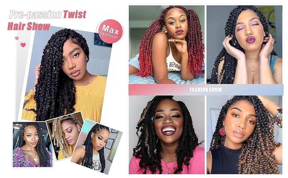 passion twist hair, pretwisted passion twist hair crochet hair, crochet braids, braiding hair