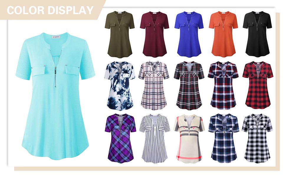 short sleeve tunic tops for women