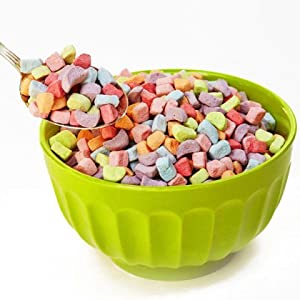 Cereal marshmallows in bowl
