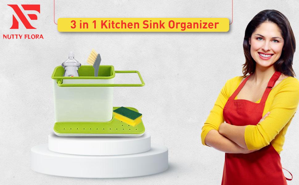 3 in 1 Kitchen Sink Organizer