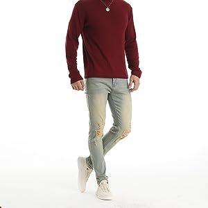 ripped skinny jeans for men slim fit distressed torn tapered designer stretch destroyed torn