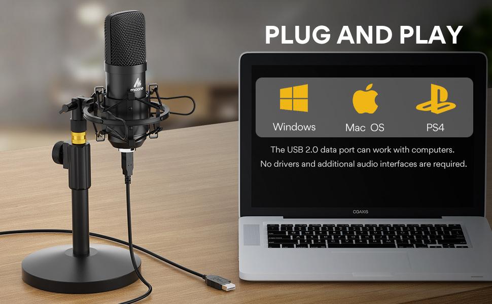 maono usb microphone kit AU A04T