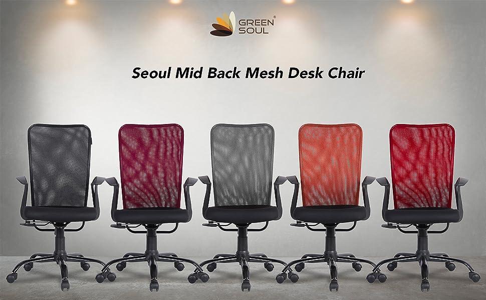 Seoul Mid Back Mesh Desk Chair