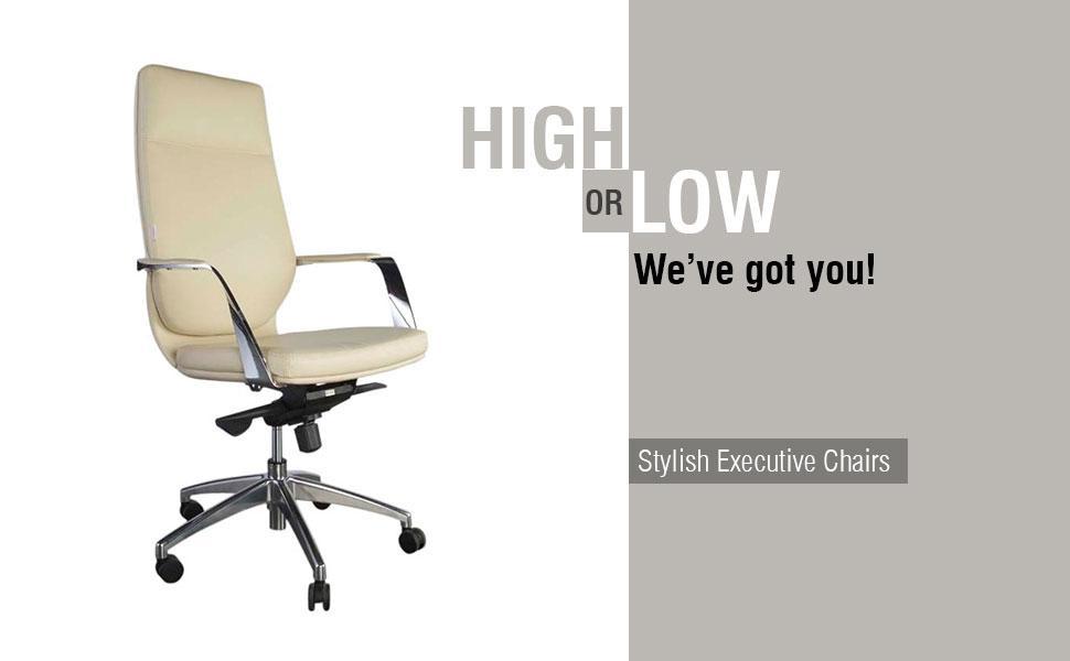Alba Executive High Back Beige Chair
