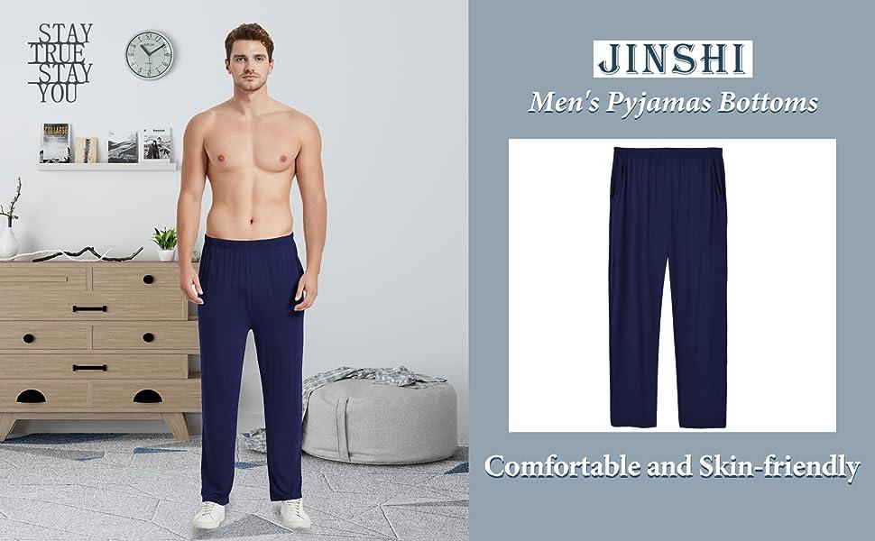 JINSHI Men's Modal Pyjama Bottoms