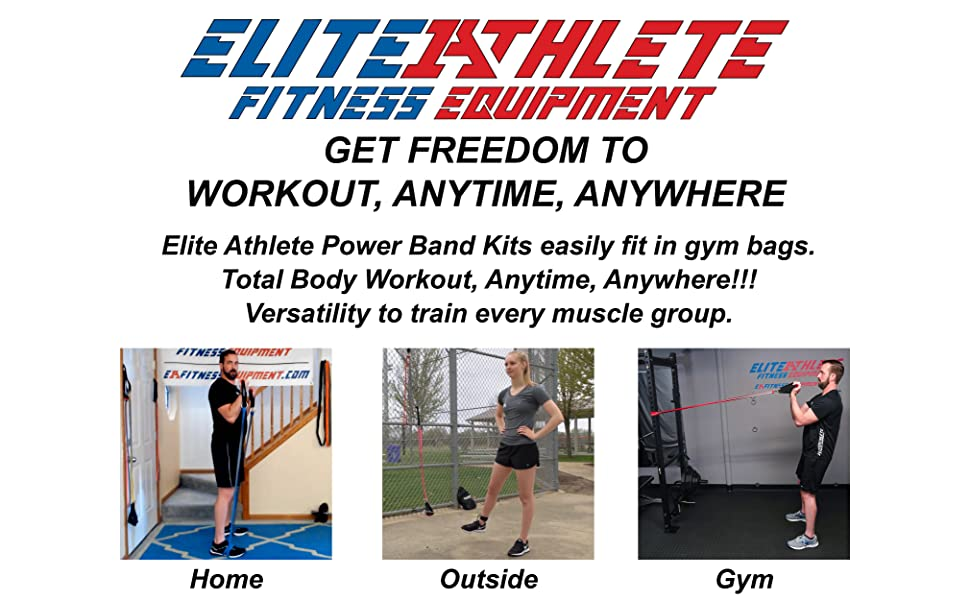 Elite Athlete Power Kits easily fit in gym bags.  Total Body Workout, Anytime, Anywhere!