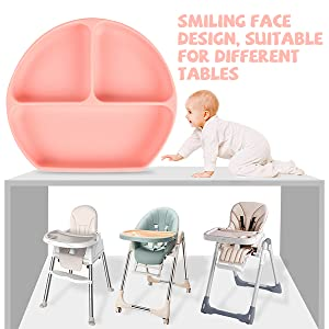 Baby Silicone Divided Suction Plates