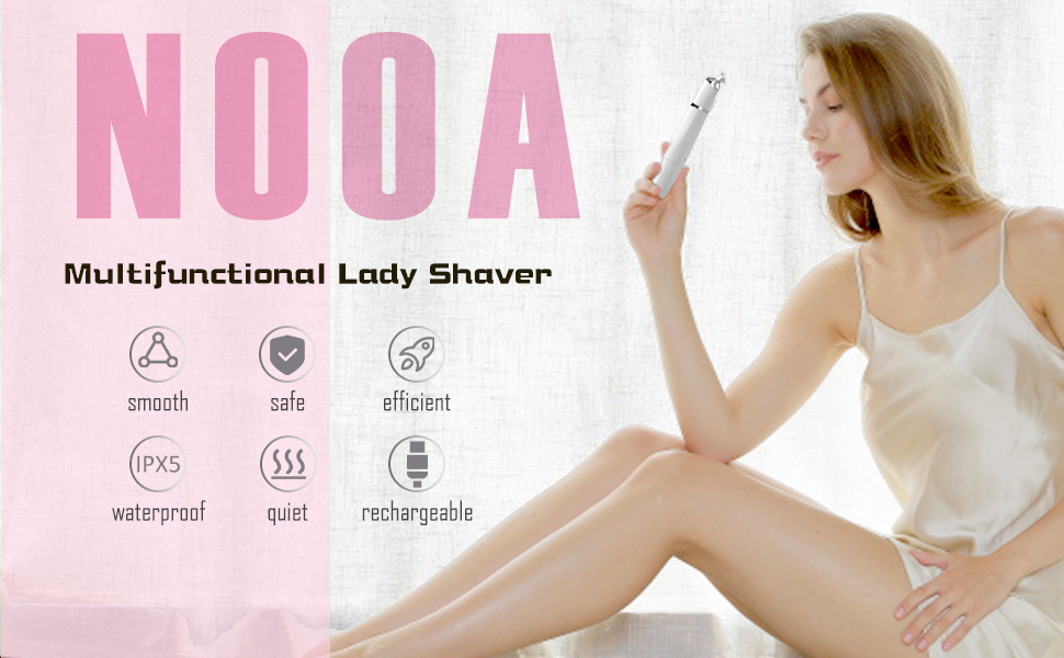Waterproof Electric Shaver for Women, Bikini Trimmer, Cordless Razor for Public Hair Bikini Area
