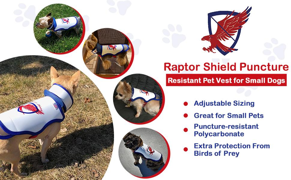 Amazon Com Raptor Shield Puncture Resistant Pet Vest For Small Dogs Medium 8 5 12 Lbs Chest 15 5 To 18 Kitchen Dining