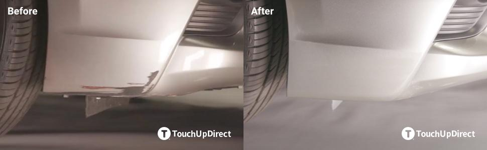 Before and After Aerosol Touch Up Project