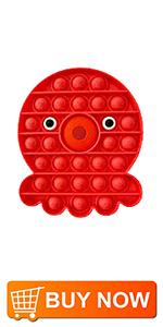 Fidget Toys-Octopus Red