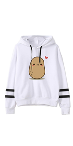 womens hoodies pullover graphic white