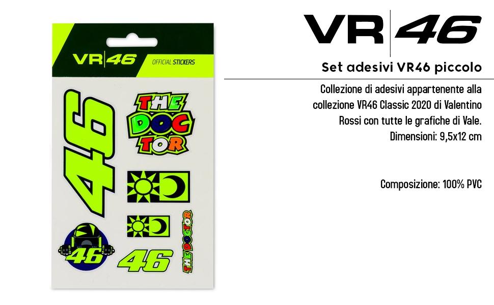 Juego de adhesivos VR46 pequeño