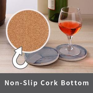 Non-Slip Cork Bottom