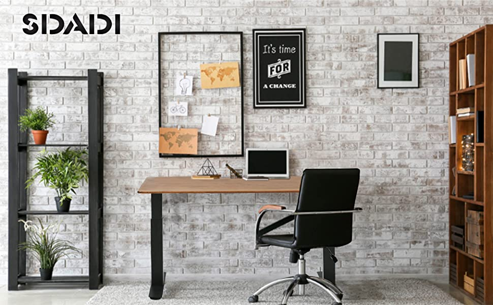 This height adjustable desk is powered by electrical motor, manual lifting is not supported.
