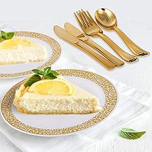 Gold Plastic Dinnerware