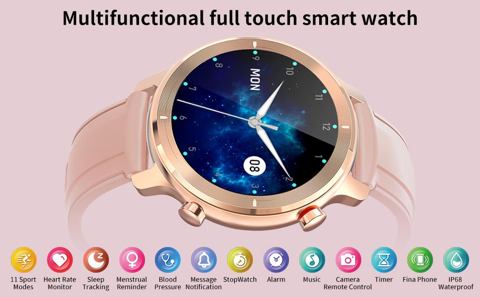 Multifunctional full touch smart watch