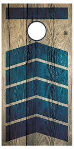 Premium Wood Boards Cornhole Retro Rustic Vintage Design Outdoor Yard Game Set
