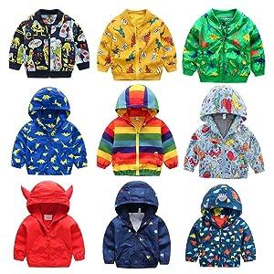 Baby Boys Long Sleeve Dinosaur Coat Outwear