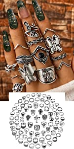 silver rings set