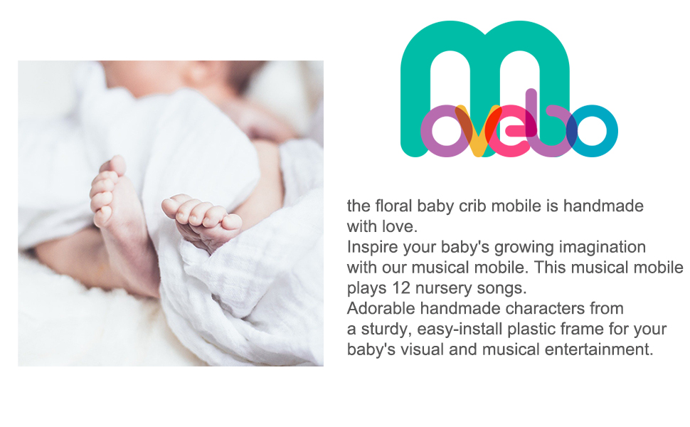 floral baby crib mobile 970