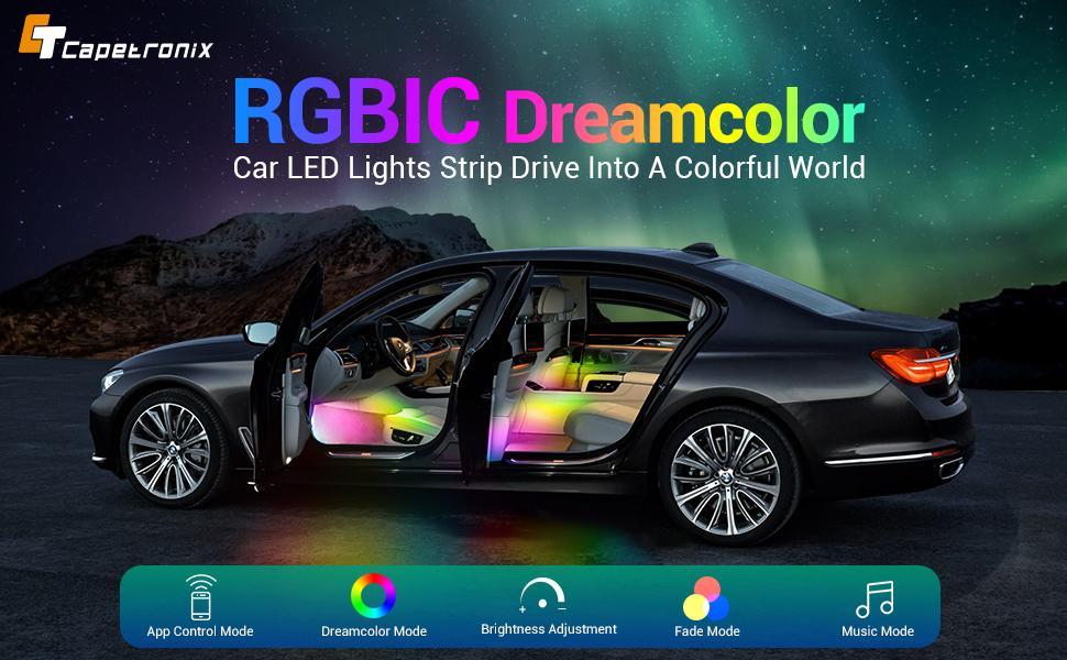 RGBIC Car led lights