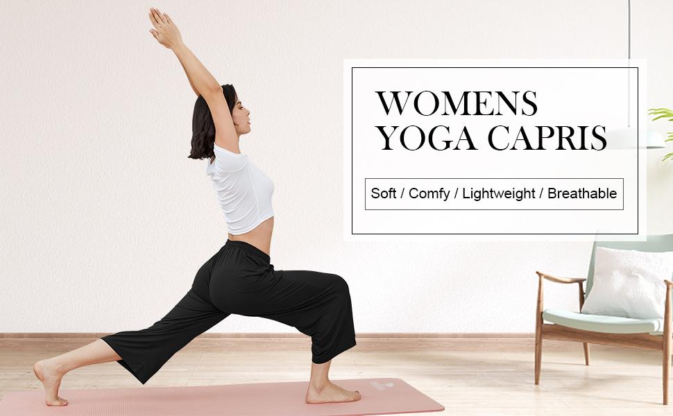 ASIMOON Women's Yoga Capris
