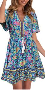 womens floral bohemia dress