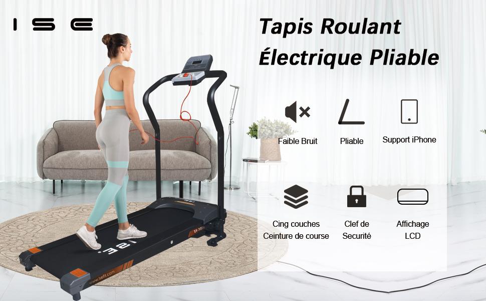 ISE tapis de course pliable électrique