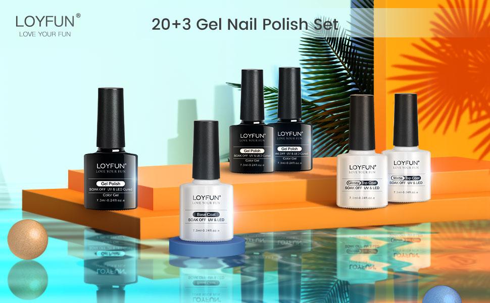 LOYFUN gel nail polish set